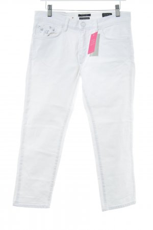 Maison Scotch 3/4-jeans wit prints met een thema casual uitstraling