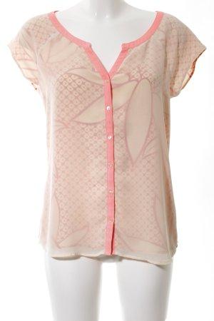 Maison Scotch ärmellose Bluse nude-pink abstraktes Muster Business-Look
