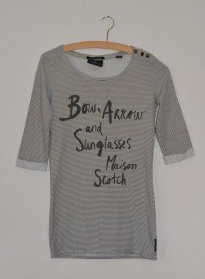 Maison Scotch, bedrucktes Shirt mit 3/4 Arm, Gr. S