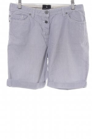 Maison Scotch Bermuda blanco-azul acero estampado a rayas look casual