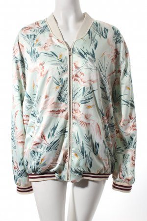 Maison Scotch Blouson rosé-türkis Allover-Druck Street-Fashion-Look
