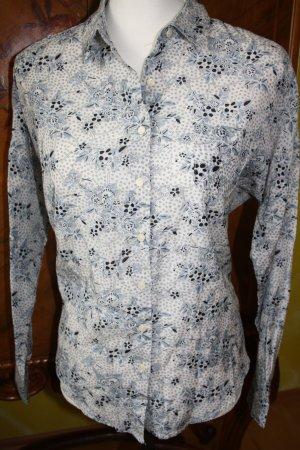 Maison Scotch Bluse Gr. 1 (36/38) S weiss-schwarz-grau mit Blumendruck / NEU !