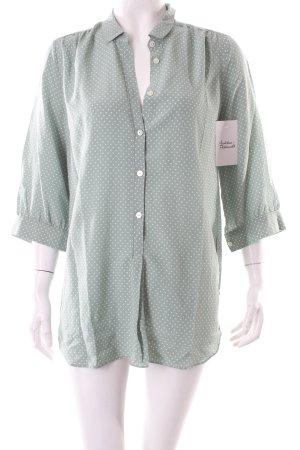 Maison Scotch Bluse grün-weiß klassischer Stil