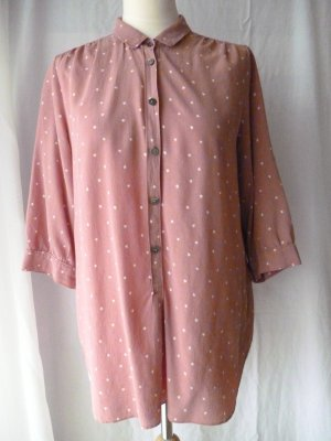 Maison Scotch Bluse mit Bubi-Kragen, rose, 38/40