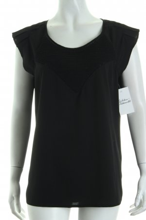 Maison Scotch Blusentop schwarz Business-Look