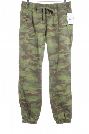 Maison Scotch Boyfriendhose Camouflagemuster Country-Look
