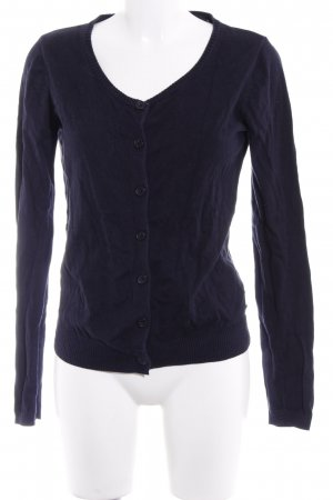 Maison Scotch Cardigan dunkelblau-hellbraun Motivdruck Casual-Look