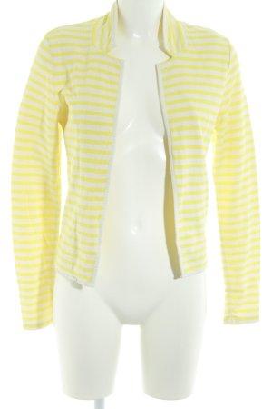 Maison Scotch Cardigan gelb-weiß Ringelmuster Casual-Look