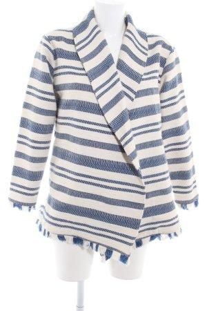 Maison Scotch Cardigan weiß-dunkelblau Streifenmuster Casual-Look
