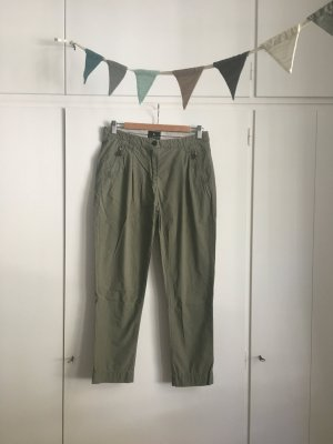 Maison Scotch Boyfriend Trousers green grey-khaki cotton