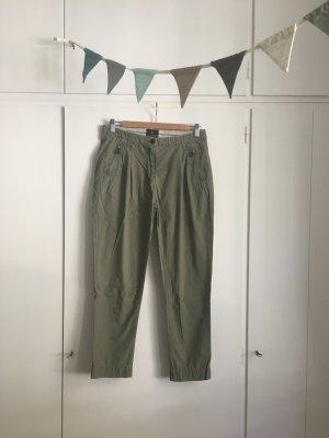 Maison Scotch Pantalone boyfriend grigio-verde-cachi Cotone