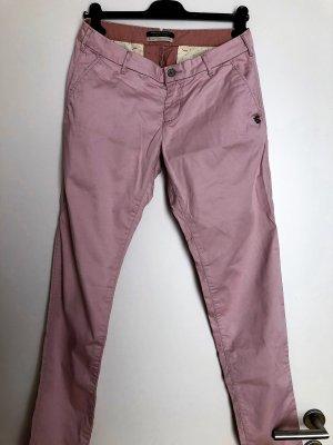 Maison Scotch Pantalon chinos rosé coton