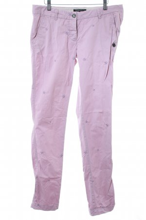 Maison Scotch Chinohose hellrosa Sternenmuster Casual-Look