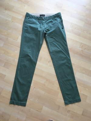 Maison Scotch Chinos in washed royal green