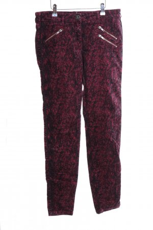 Maison Scotch Corduroy Trousers red-black allover print casual look