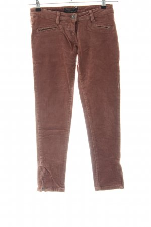 Maison Scotch Pantalon en velours côtelé brun style d'affaires
