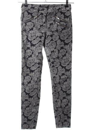 Maison Scotch Pantalone di velluto a coste stampa integrale stile casual