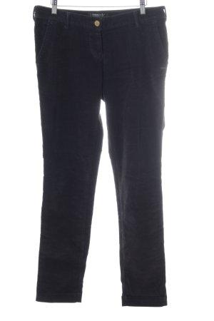 Maison Scotch Corduroy Trousers dark blue casual look
