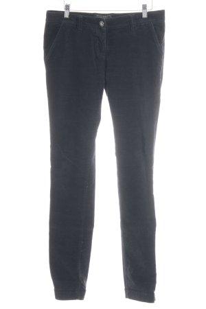 Maison Scotch Pantalón de pana azul oscuro look casual