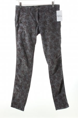 Maison Scotch Cordhose grauviolett florales Muster Casual-Look