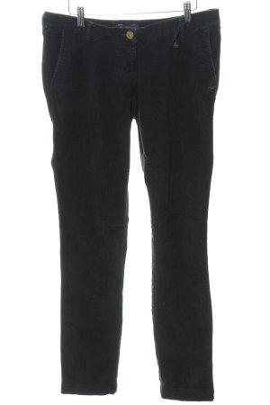 Maison Scotch Pantalon en velours côtelé noir style décontracté