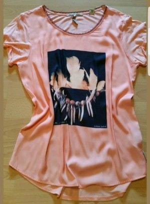 Maison Scotch Damen kurzarm Bluse Shirt mit Aufdruck