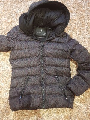 Maison Scotch Daunenbomberjacke Leoparden Tarnmuster rar top