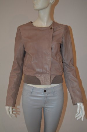 Maison Scotch Leather Jacket beige leather