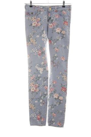 Maison Scotch Pantalon cinq poches bleu motif de fleur style décontracté