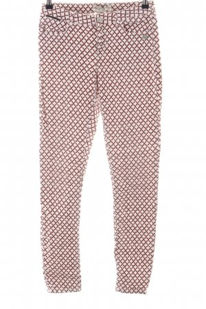 Maison Scotch Five-Pocket Trousers natural white-red allover print casual look