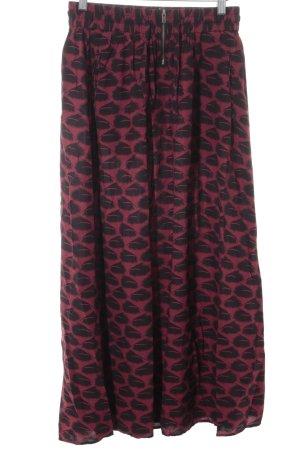 Maison Scotch Flared Skirt carmine-black animal pattern beach look