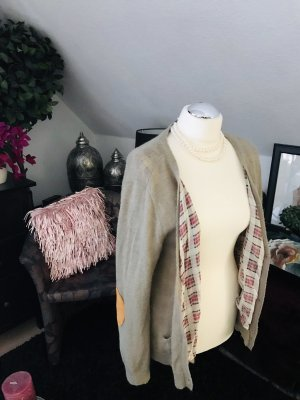 Maison scotch gr. L Cardigan Strickjacke mit leder Armpatches