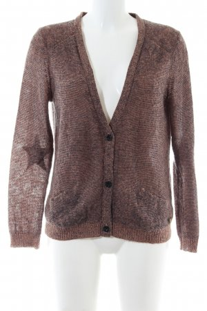 Maison Scotch Coarse Knitted Jacket bronze-colored flecked casual look