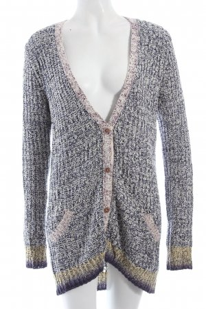 Maison Scotch Coarse Knitted Jacket dark blue-oatmeal flecked fluffy