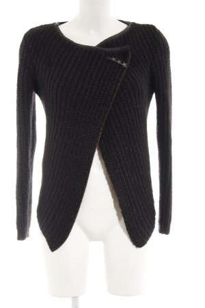 Maison Scotch Coarse Knitted Jacket black-silver-colored casual look