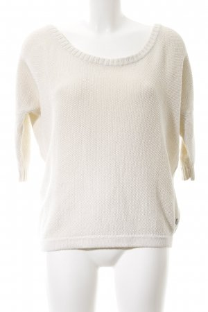 Maison Scotch Crochet Sweater natural white-red casual look