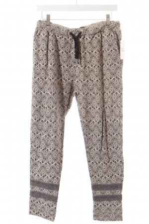 Maison Scotch Haremshose creme-schwarz grafisches Muster Casual-Look