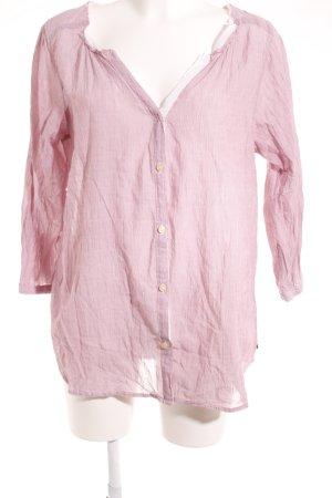 Maison Scotch Hemd-Bluse blasslila-weiß Webmuster klassischer Stil