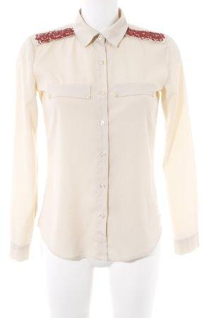 Maison Scotch Hemd-Bluse creme-karminrot Elegant