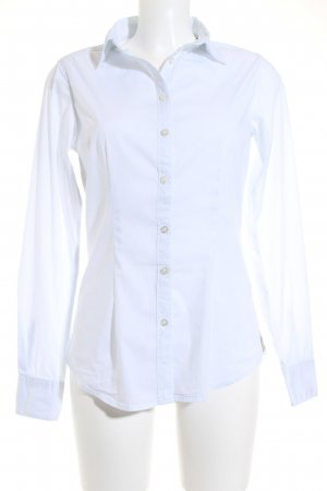 Maison Scotch Hemd-Bluse hellblau Nadelstreifen Business-Look