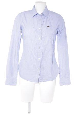 Maison Scotch Hemd-Bluse hellblau-weiß Streifenmuster Business-Look