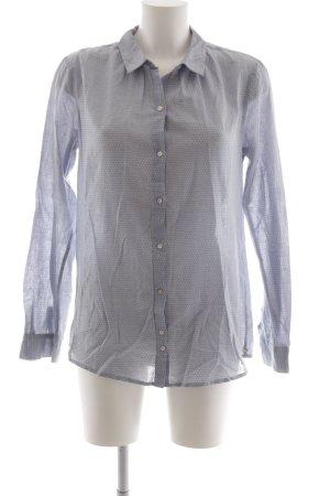 Maison Scotch Hemd-Bluse himmelblau-weiß Punktemuster schlichter Stil
