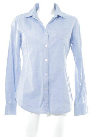 Maison Scotch Hemd-Bluse kornblumenblau-wollweiß meliert Casual-Look