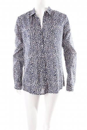 Maison Scotch Hemd-Bluse petrol-schwarz Animalmuster Casual-Look