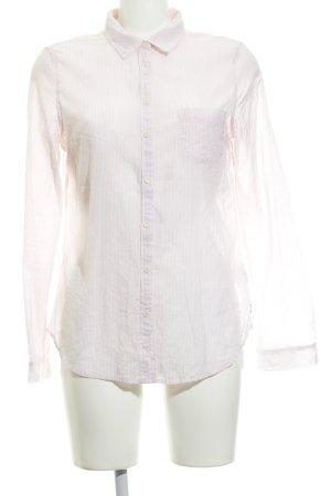 Maison Scotch Hemd-Bluse rosé-wollweiß Streifenmuster schlichter Stil