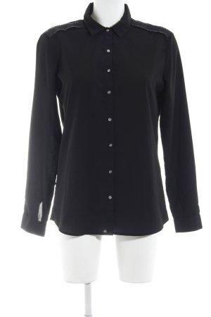 Maison Scotch Hemd-Bluse schwarz schlichter Stil
