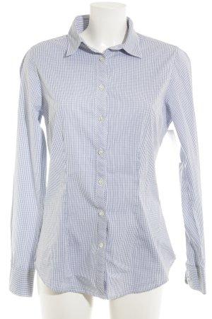 Maison Scotch Hemd-Bluse weiß-dunkelblau Karomuster Business-Look