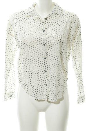 Maison Scotch Hemd-Bluse weiß-dunkelblau Sternenmuster