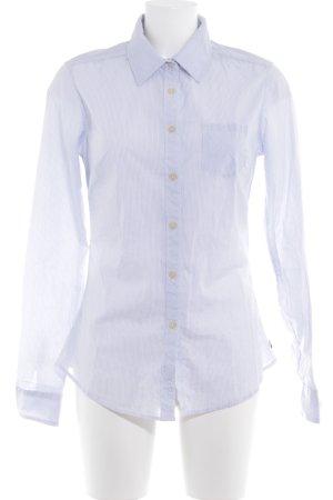 Maison Scotch Hemd-Bluse weiß-dunkelblau Streifenmuster Business-Look