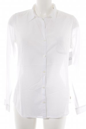 Maison Scotch Hemd-Bluse weiß-hellgelb Elegant